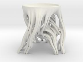Tripod Julia bowl with smooth interior in White Natural Versatile Plastic: Medium