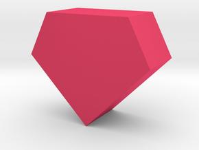 Gem Game Piece in Pink Processed Versatile Plastic