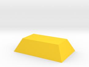 Gold Ingot Game Piece in Yellow Processed Versatile Plastic