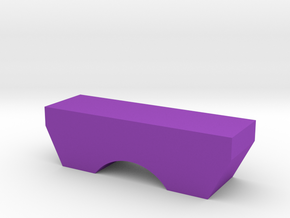 Single Arch Bridge Game Piece in Purple Processed Versatile Plastic