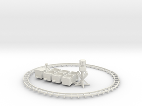 King carnival train with track and power center in White Natural Versatile Plastic