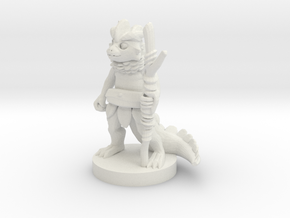 Young Dragonborn Druid in White Natural Versatile Plastic