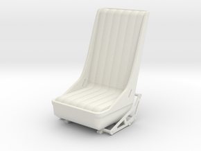 Gunner Seat in White Natural Versatile Plastic
