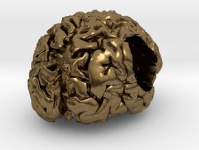 Brain European Charm Bracelet Bead in Raw Bronze