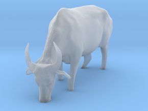 Domestic Asian Water Buffalo 1:9 Grazing in Water in Smooth Fine Detail Plastic