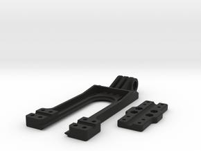 GoPro type compatible mount for Taranis X9D Transm in Black Natural Versatile Plastic