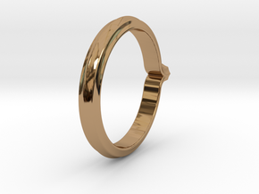 Shapesweeper Octagonal Basic Ring in Polished Brass: 5.5 / 50.25
