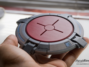 Portal button Coaster in Full Color Sandstone