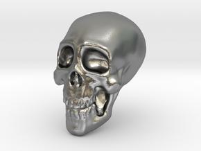Tiny Skull in Natural Silver
