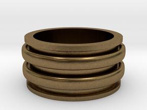 Celtic spinner size 9 in Natural Bronze (Interlocking Parts)
