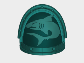 Mako Shark - G3 Shoulder Pads x10 in Smooth Fine Detail Plastic