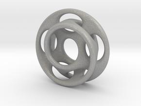 10 holes - interlocked moebius in Aluminum