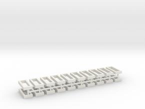 Hecke geschlossen für Grabeinfassungen 20erSet 1:1 in White Natural Versatile Plastic