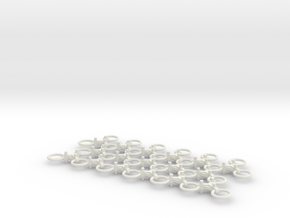 Chain Harrow Small 1/32 - Chains  in White Natural Versatile Plastic