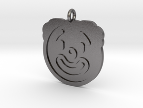 Clown Pendant in Polished Nickel Steel