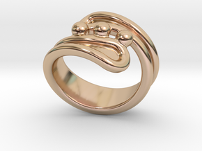 Threebubblesring 22 - Italian Size 22 in 14k Rose Gold Plated Brass