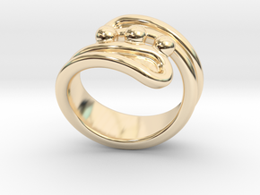 Threebubblesring 23 - Italian Size 23 in 14K Yellow Gold