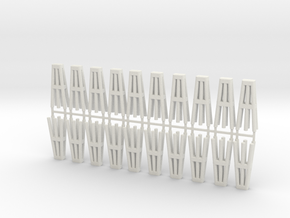 Duckdalben 6er rund 20erSet 1:120 in White Natural Versatile Plastic