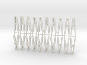 Duckdalben 4er rund 20erSet 1:120 in White Natural Versatile Plastic