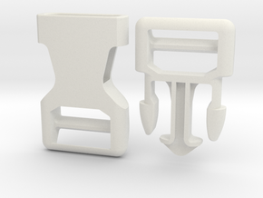 Side Release Buckle 3/4 inch in White Natural Versatile Plastic