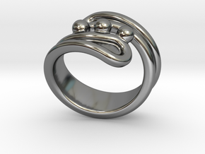 Threebubblesring 24 - Italian Size 24 in Fine Detail Polished Silver