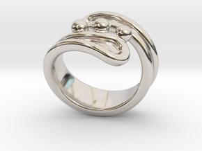 Threebubblesring 24 - Italian Size 24 in Platinum