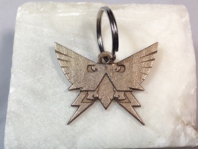 Warhammer Horus Heresy Imperial Keychain Pendant in Polished Bronzed Silver Steel