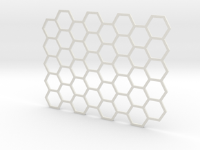 Texture stamp: Hex in White Natural Versatile Plastic