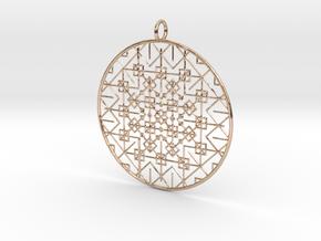Trnvj Pendant in 14k Rose Gold Plated Brass