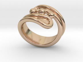 Threebubblesring 26 - Italian Size 26 in 14k Rose Gold Plated Brass