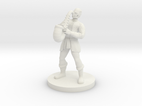 Warforged Bard in White Natural Versatile Plastic