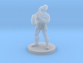 Warforged Bard in Smooth Fine Detail Plastic