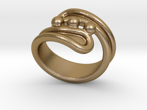 Threebubblesring 27 - Italian Size 27 in Polished Gold Steel