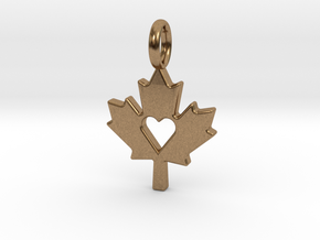 Love The Maple Leaf - Pendant in Natural Brass