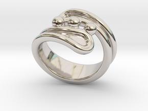 Threebubblesring 28 - Italian Size 28 in Platinum
