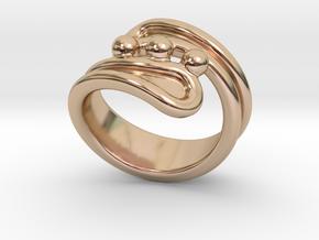 Threebubblesring 28 - Italian Size 28 in 14k Rose Gold Plated Brass