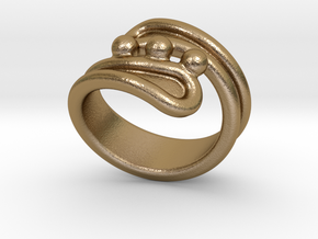Threebubblesring 28 - Italian Size 28 in Polished Gold Steel