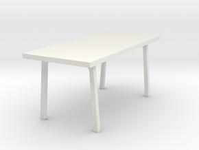 Miniature Vastanby Table - IKEA in White Natural Versatile Plastic: 1:24