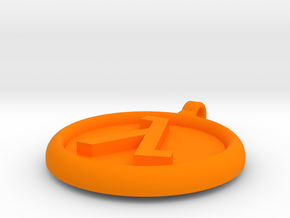 Half-Life Logo Pendant in Orange Processed Versatile Plastic: Small