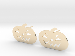 Jack-O-Lantern Earrings in 14k Gold Plated Brass