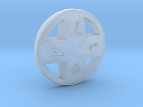 Cross d8 in Smooth Fine Detail Plastic