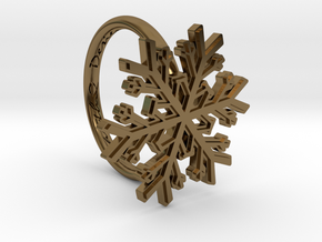 Snowflake Ring 1 d=16mm h21d16 in Polished Bronze
