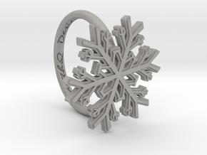 Snowflake Ring 1 d=16mm h21d16 in Aluminum