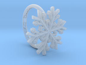 Snowflake Ring 1 d=16mm h21d16 in Smooth Fine Detail Plastic