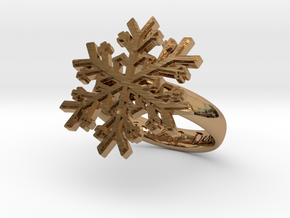 Snowflake Ring 1 d=16mm h35d16 in Polished Brass