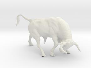 Printle Thing Bull - 1/48 in White Natural Versatile Plastic