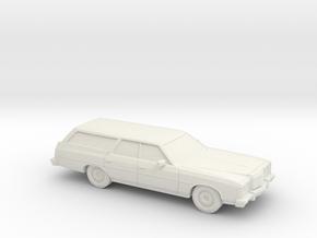 1/87 1974 Ford LTD Station Wagon in White Natural Versatile Plastic