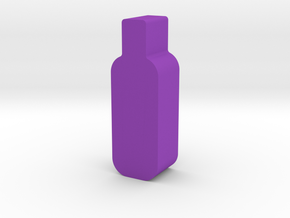 Wine Bottle Game Piece in Purple Processed Versatile Plastic
