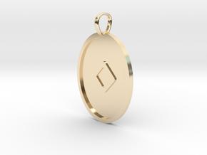 Ingwaz Rune (Elder Futhark) in 14k Gold Plated Brass
