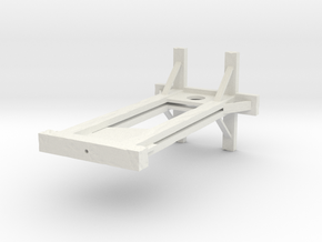 Medieval Guillotine in White Natural Versatile Plastic